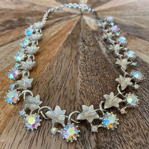 Jewelry - Vintage Lisner Aurora Borealis Crystal Necklace